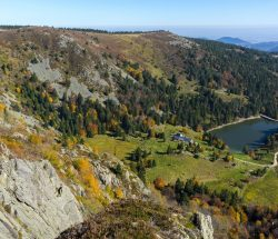 Campingplatz Clos De La Chaume: Panoramablick auf den Naturpark Ballons des Vosges