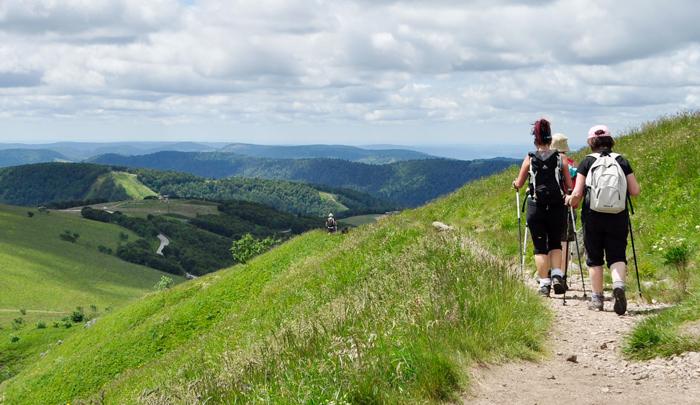 Campingplatz Clos De La Chaume: Wandern in den Bergen