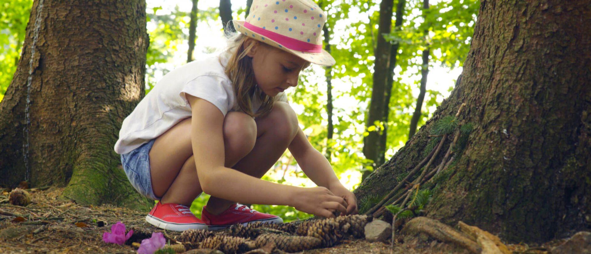 Camping Clos De La Chaume : Atelier Cabane au Mini Club Nature en camping dans les Vosges